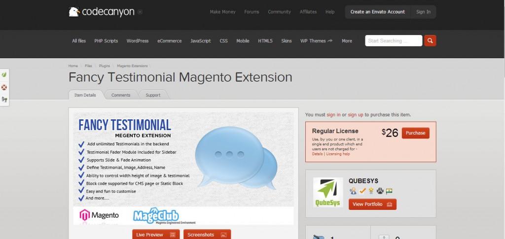 Fancy Testimonial Magento Extension